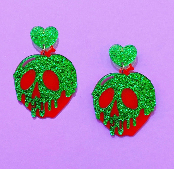 Poison Apple Sparkle Small Acrylic Drop Earrings
