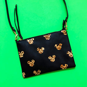 Leopard Mouse Print Cross Body Purse Bag