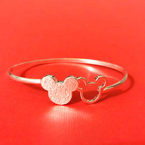 Mickey Mouse Inspired Silver Bracelet