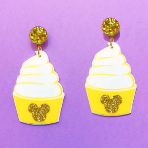 Acrylic Dole Whip Drop Earrings