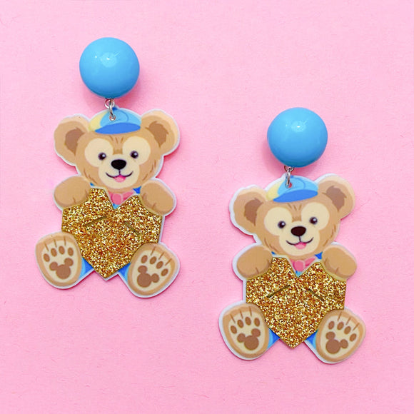 Duffy The Bear Sparkle Acrylic Drop Earrings