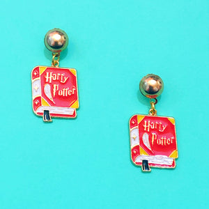 Harry Potter Book Enamel Drop Earrings
