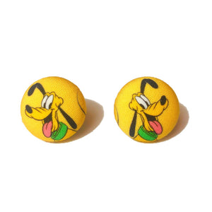 Pluto Fabric Button Earrings