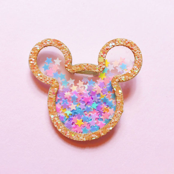 Sparkle Mouse Confetti Pin