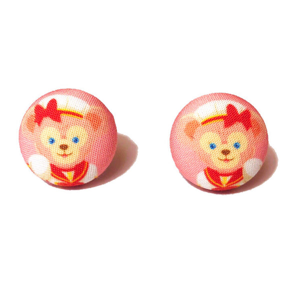ShellieMae Fabric Button Earrings