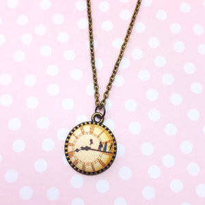 Big Ben Peter Pan Clock Necklace