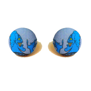 Hades Hercules Villain Inspired Fabric Button Earrings