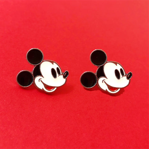 Mickey Mouse Enamel Earrings
