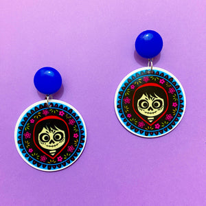Miguel Coco Round Acrylic Drop Earrings