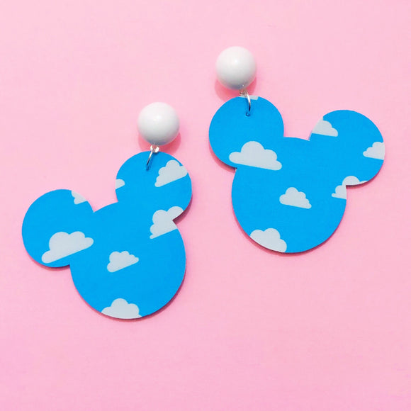 Andy's Room Clouds Wallpaper Toy Story Mouse Drop Earrings