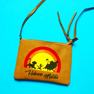 Hakuna Matata Lion King Cross Body Purse Bag