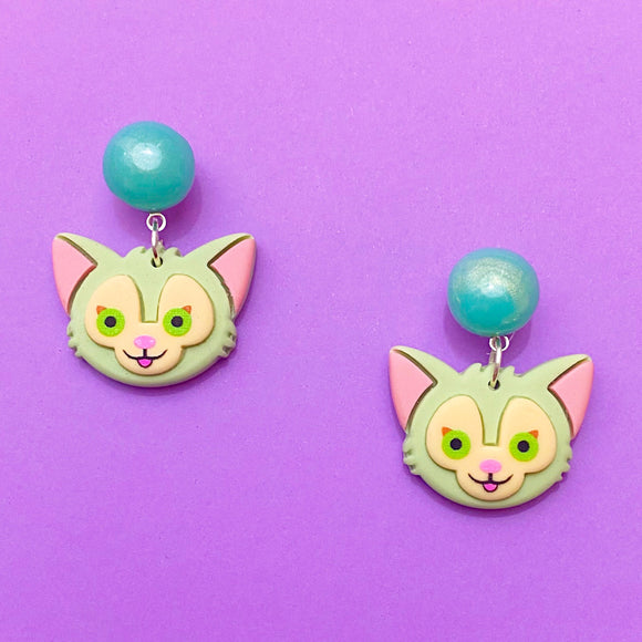 Gelatoni Cat Duffy & Friends Small Drop Earrings