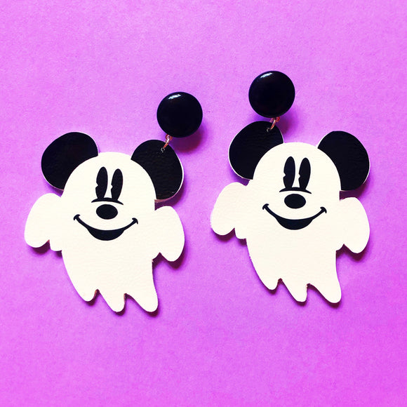 Mouse Ghost Drop Earrings