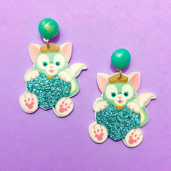 Gelatoni Duffy & Friends Acrylic Drop Earrings