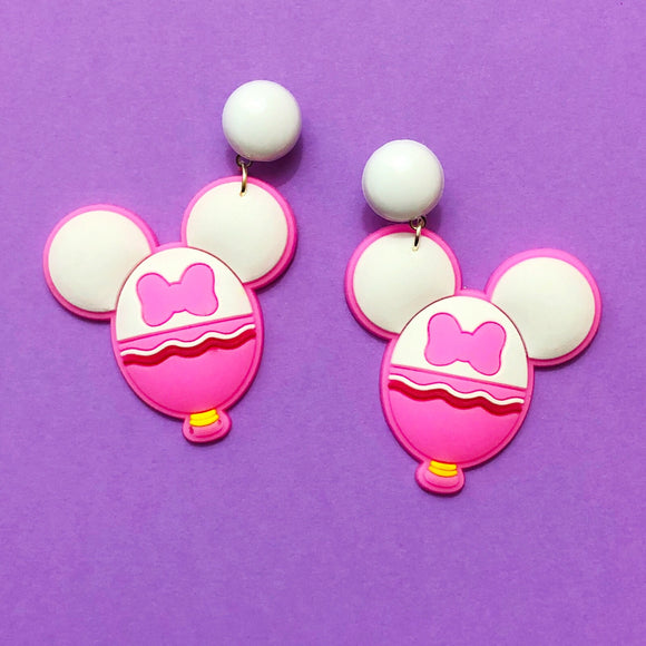 Daisy Duck Mouse Balloon Drop Earrings