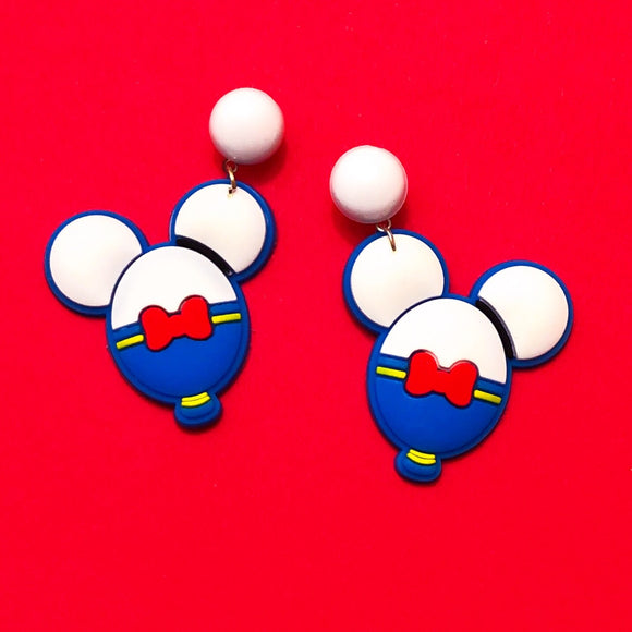 Donald Duck Mouse Balloon Drop Earrings