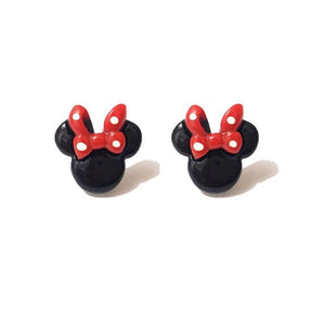 Mini Minnie Mouse Inspired Earrings