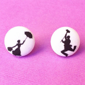Mary & Bert Silhouette Inspired Earrings