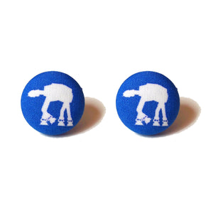 AT-AT Star Wars Fabric Button Earrings