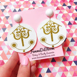 Small World Clock Face Drop Earrings