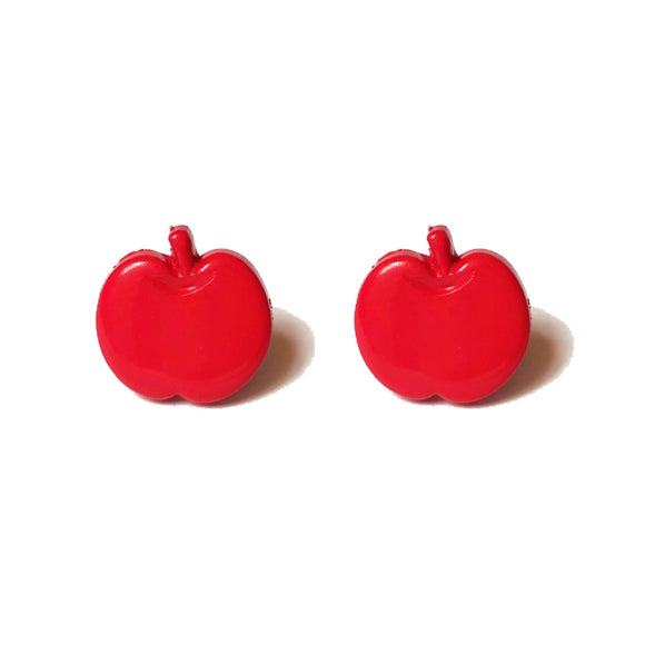 Red Snow White Apple Earrings