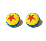 Luxo Ball Fabric Button Earrings