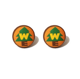 Wilderness Explorer Up! Inspired Fabric Button Earrings - Pixar Pals