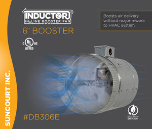 "INDUCTOR® 6"" 2-SPEED IN-LINE DUCT BOOSTER FAN™ 