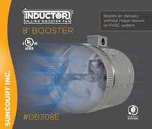 "Load image into Gallery viewer, INDUCTOR® 8"" 2-SPEED IN-LINE DUCT BOOSTER FAN™ 