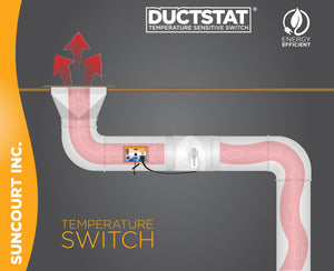 DUCTSTAT® PLUG-IN TEMPERATURE SENSITIVE SWITCH™ | DS100