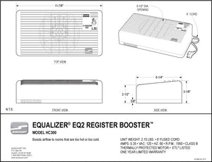 Equalizer® EQ2 Register Booster™ - HC300
