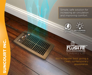 FLUSH FIT™ SMART REGISTER BOOSTER™ FAN | HC500-B (BROWN)