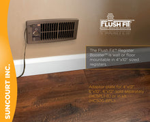 Load image into Gallery viewer, FLUSH FIT™ REGISTER BOOSTER™ | HC500-B (BROWN)