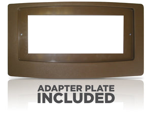 FLUSH FIT™ REGISTER BOOSTER™ WITH ADAPTOR PLATE | HC500-BPL (BROWN)
