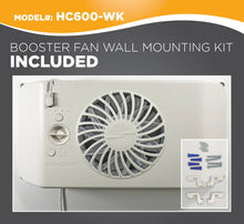 Load image into Gallery viewer, EQUALIZER® EZ8 SMART REGISTER BOOSTER FAN WITH WALL MOUNT KIT | HC600-WK