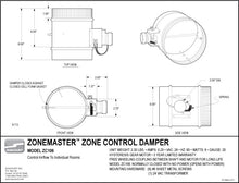 "Load image into Gallery viewer, ZoneMaster™ Motorized Damper – 6"" Normally Closed – ZC106"