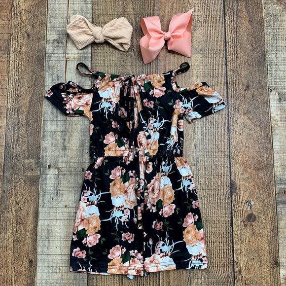 Cold Shoulder Floral Romper