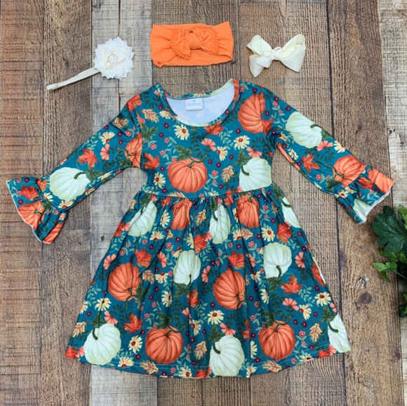 Pumpkin & Daisy Tunic Dress