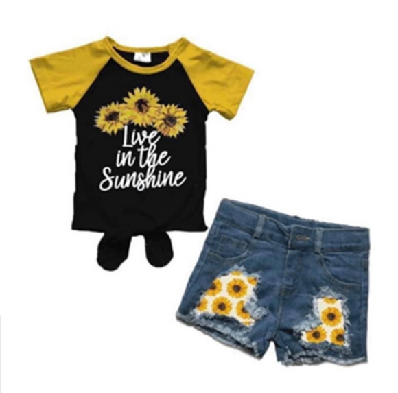 Live in the Sunshine Distressed Jean Short