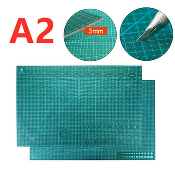 A2 Double Printed Self-Healing Art Cutting Mat Quilting Scrapbook Board Leather Craft Sewing Patchwork Tool DIY Cutter PVC Pad