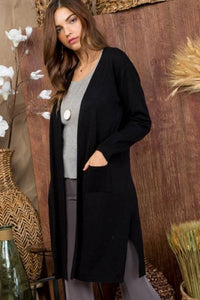 Woman in Black Cardigan