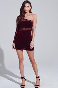 Velvet Elvis Dress- Maroon