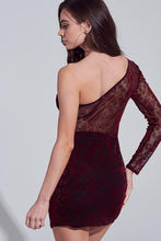 Load image into Gallery viewer, Velvet Elvis Dress- Maroon