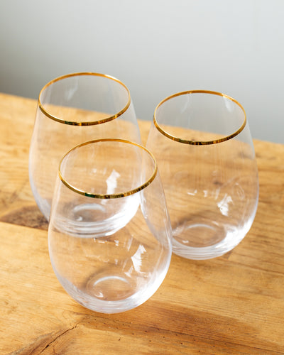 Touch of Class Stemless Wine Glasses