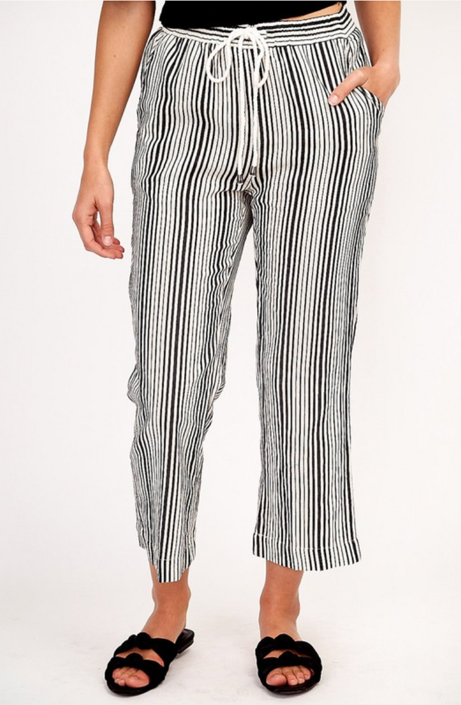 blank and white stripe pants