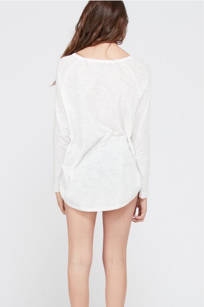 white long sleeve top