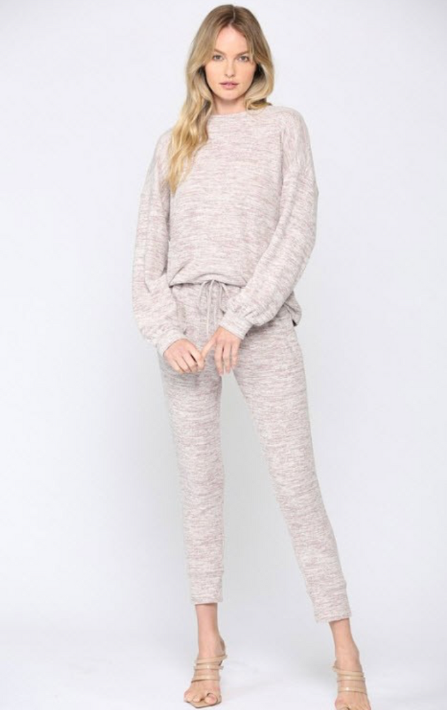 long sleeve sweater pant lounge set