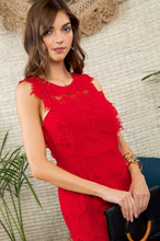 Load image into Gallery viewer, Red Hot Lace Dress