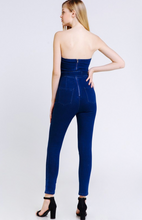 Load image into Gallery viewer, Pin Up Denim Jumpsuit