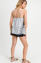 Load image into Gallery viewer, Flower And Stripe Tank Top
